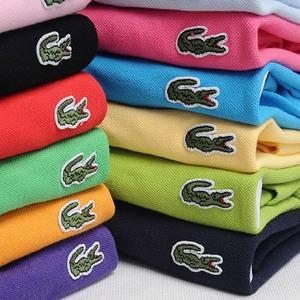 Men Summer Polo Shirt Brand Fashion Cotton Short Sleeve Polo Crocodile Shirts Male Solid Jersey Breathable Tops Tees 5566