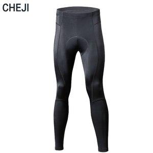 CHEJI длинные штаны для велоспорта с гелевой подкладкой, мужские черные дышащие MTB шоссейные велосипедные колготки из лайкры, велосипедные бр...