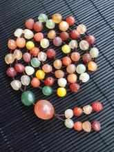 Wholesale natural Alashan Gobi stone agate bead colorfful necklace accessories