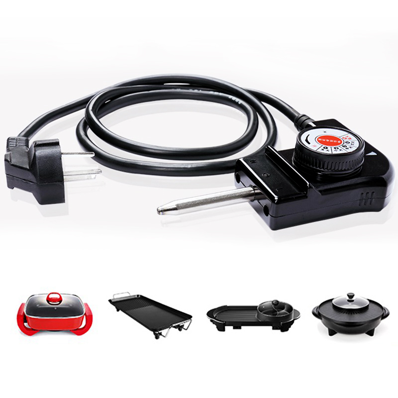 1.5M Power Cable/5 Gear Temperature Control Switch/Coupler Plug 3 In 1 2500W Hotpot Barbecue Machine Accessories