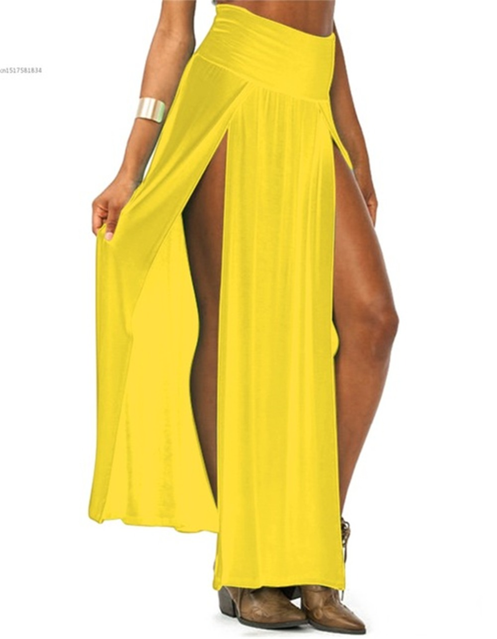 2019-New-Arrival-High-Waisted-Sexy-Womens-Double-Slits-Summer-Solid-Long-Maxi-Skirt-Wholesale-51.jpg_640x640 (6)