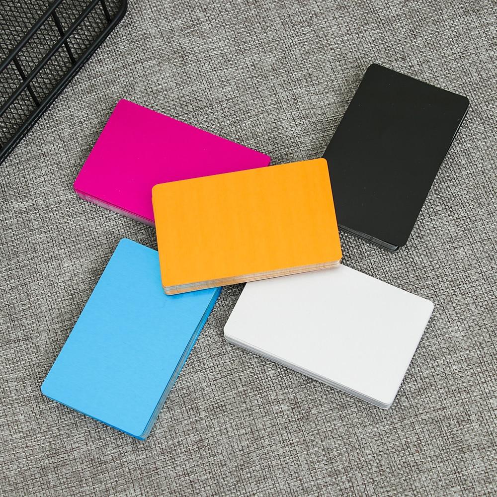 Carte Name-Cards Laser Engraving Visit Business Metal Aluminum-Alloy Portable Crafts