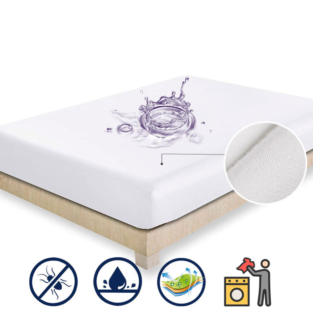 1pcs Baby Bed Mattress Cover Crib Sheet Polyester Waterproof Fitted Mattress Bed Protector 80 X 200 X 30cm