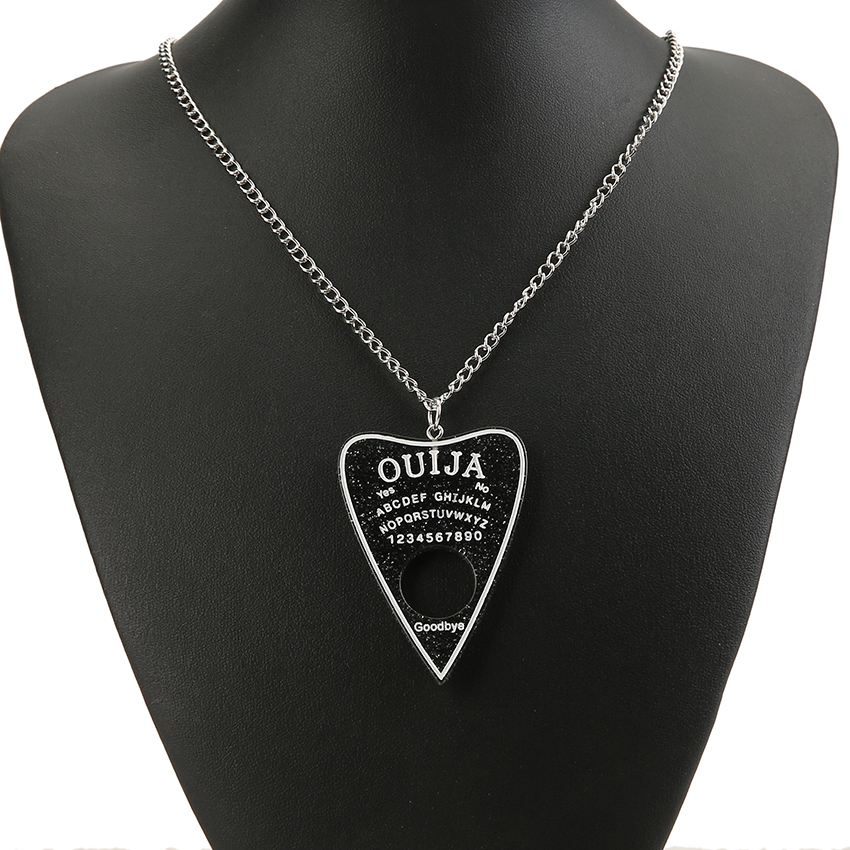 1PC Women Necklace Multicolor Resin Ouija PlatePendant for Children Birthday Gift Woman Jewelry