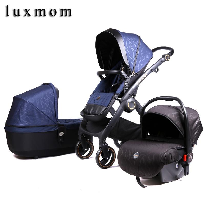 Luxmom 2020 New Stroller 2 In 1 3 In 1 Baby Car Seat Baby Newborn Stroller For Winter