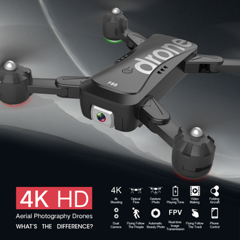 Folding F88 Drone RC Quadcopter Foldable Portable WiFi Drones With 4K HD Wide-Angle Live Video Camera Altitude Hold Mode Drone