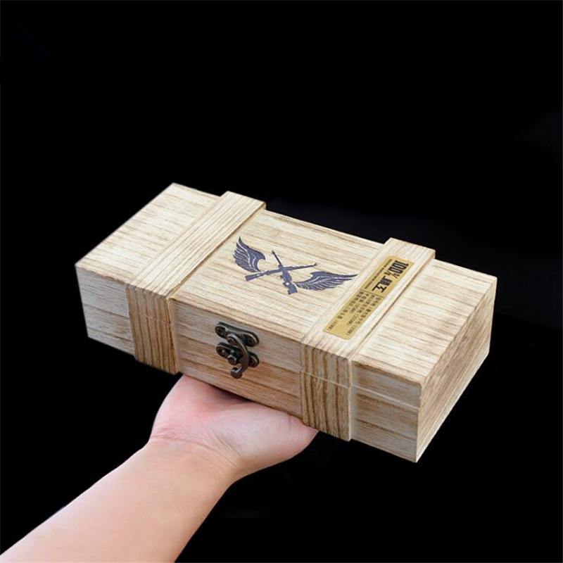 Game PLAYERUNKNOWN'S BATTLEGROUNDS Peripheral Wooden Box Storage Box Eat Chicken PUBG Weapon Model Collection Box