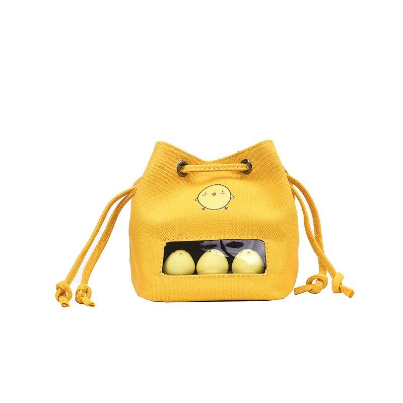 Kawaii Cartoon Chick Design Transparent Women's Shoulder Bags Ladies Cute Printed Messenger Crossbody Bags Female Bolsa 2019(China)