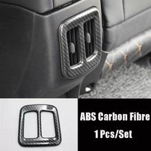 Car Back Rear Air Condition Outlet Vent Frame Cover Trim Shell Matte/Carbon Fibre for Jeep Compass 2017 2018 Car Accessories decorative carbon mesh sticker for car air condition vent black grey 2 pcs