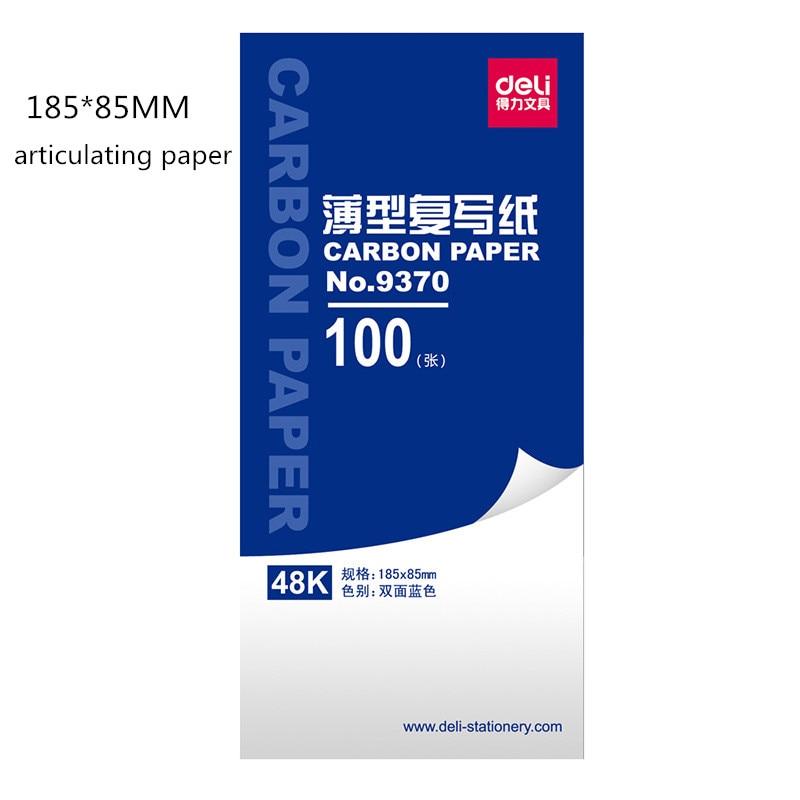 Deli 9370 Blue Copy Paper 48 Open 185 * 85mm 100 Sheets / Box Copy Blue Paper