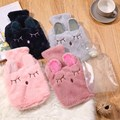 Hot Water Bottle Bag with Soft Cozy Cover Winter Warm Heat Reusable Hand Warmer Cute PVC Stress Pain Relief Therapy