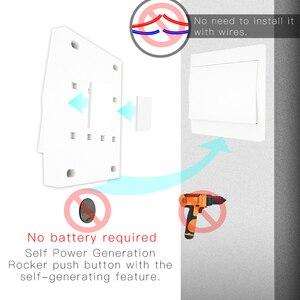 Image 3 - Interruptor inalámbrico RF433 sin batería, interruptor de luz de pared con Control remoto, autoalimentado, sin cables, transmisor de Panel de pared necesario.