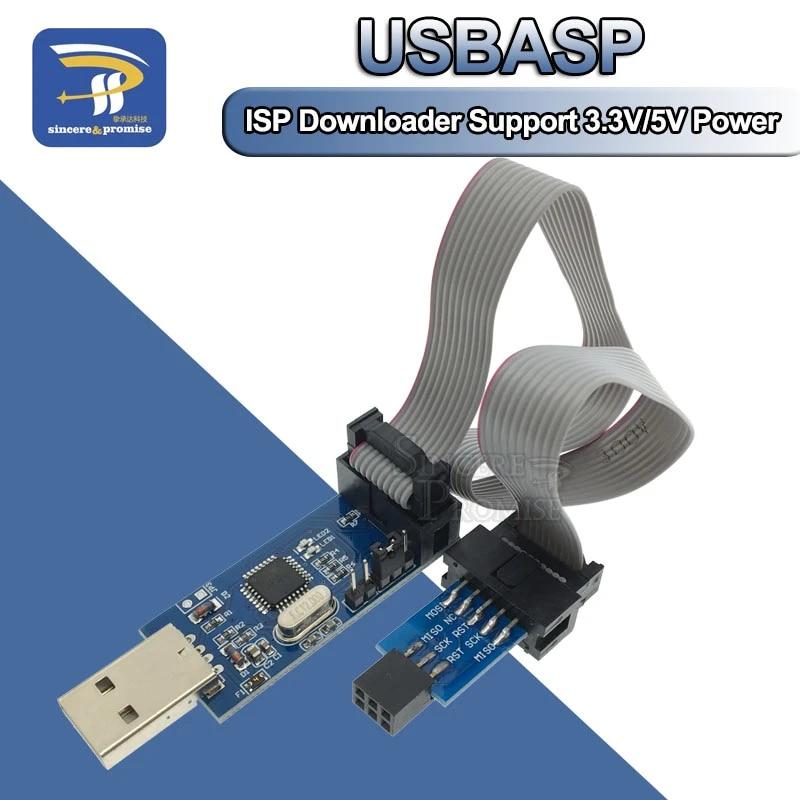 2 Set USBASP Programmiergerät ISP AVR Adapter Kabel Standardkonverter Arduino