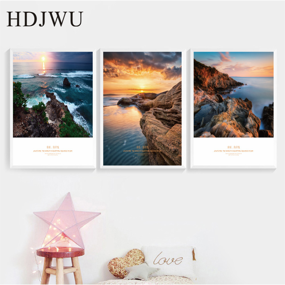 Simple Modern Art Home Wall Picture Canvas Painting Scenery Printing Wall Poster for Living Room AJ00476 in Painting Calligraphy from Home Garden
