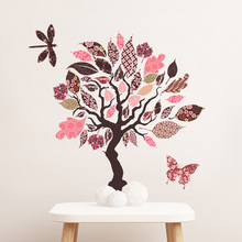 Colorful trees Wall Sticker Living room sofa background bedroom decoration Mural Decals Transparent PVC stickers wallpaper недорого