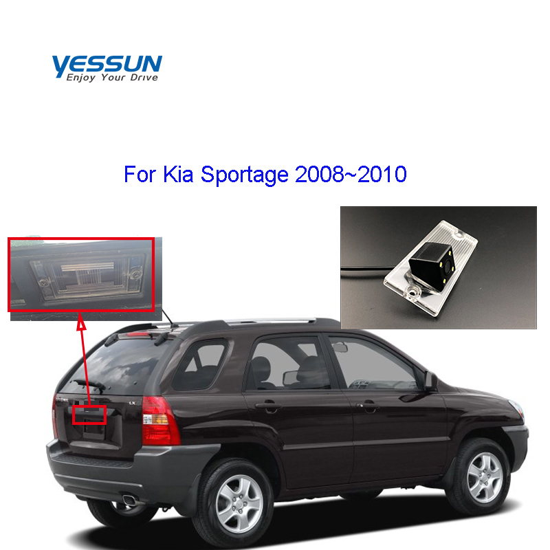 Yessun Car License Plate Camera For Kia Sportage 2008 2009 2010 Rear View Camera Parking Assistance