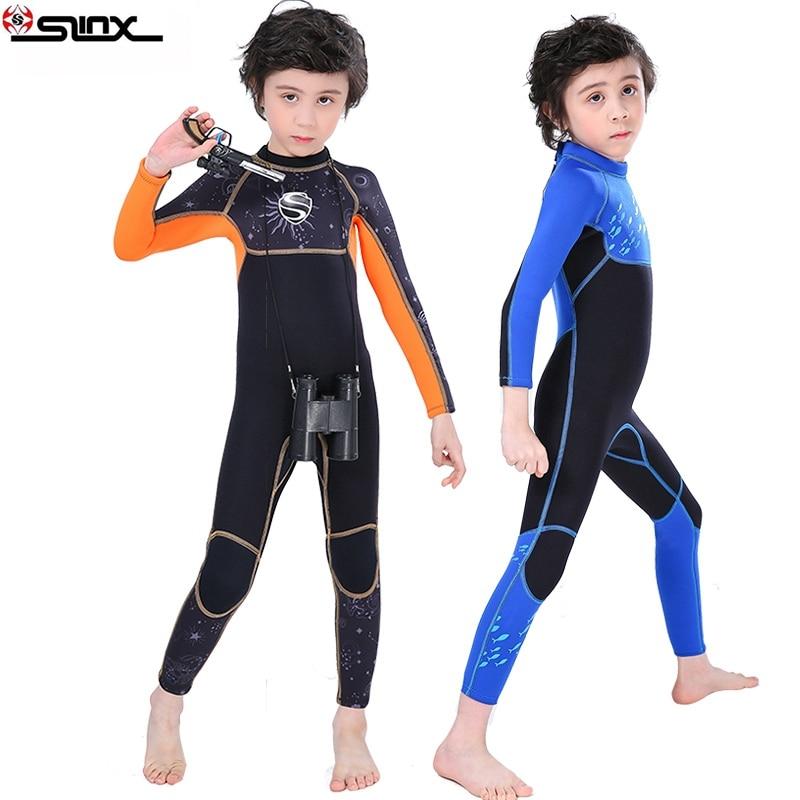 SLINX  boys 2.5mm Neoprene  Wetsuit keep warm Swimsuit Children