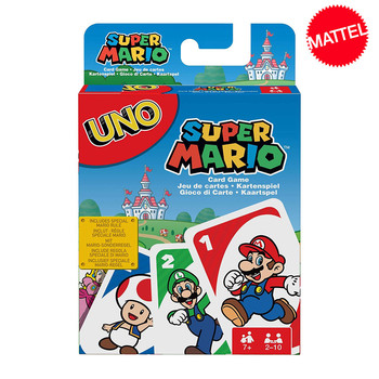 Mattel Games UNO Super Mario Card Game Family Funny Entertainment Board Game Poker Kids Toys Playing Cards