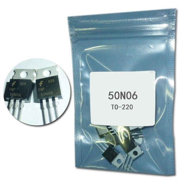 FQP50N06 TO220 50N06 MOSFET, nuevo Original, 10 unids/lote