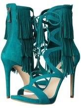 Tassel Women Sandals High Vamp Lace Up Gladiator Shoes Hollow Cut Out Zipper Mid Calf Fringe Sandal Boots Summer Women Shoes цена