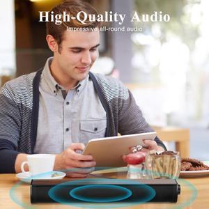 Image 5 - טלוויזיה קול בר, 20W 2.1 Soundbar, Wired & Wireless Bluetooth 5.0 רמקול, 17 אינץ, RCA/Aux/USB, סראונד עבור קולנוע ביתי