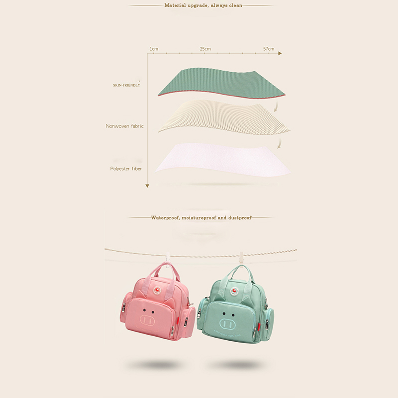 Jusanbaby Diaper Bag for Baby Mom Backpack Baby Stroller Bag Waterproof and Dustproof Maternity Expecting A Baby Fashion