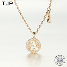 TJP S925 Sterling Silver Jewelry Creative Surname Alphabet Necklace Popular New Accessories