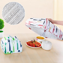 Kitchen Gadgets Dining Table Covers Thermal Food Dust Cover Keeping Warm Tools 1Pcs Cooking Lid Folding Insulated