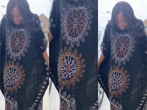 Image 1 - שמלת אורך: 140cm חזה: 160 חדשה אופנה שמלות Bazin הדפסת דאשיקי נשים ארוך/גדל Yomadou צבע דפוס גדול
