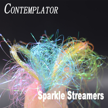 CONTEMPLATOR new 8colors Sparkle Flash Tinsel streamers fly fishing materials tying flat mylar pearl tinsel flashback nymphs