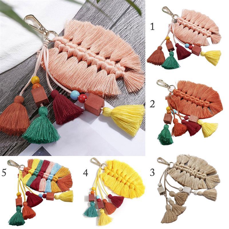 Модная сумка с кисточками Очаровательная многоцелевой декоративное кольцо для ключей кошелек очарование кисточкой сумка Шарм аксессуары