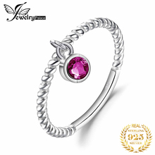 JewelryPalace Created Ruby Ring 925 Sterling Silver Rings for Women Party Rope Band Stackable Ring Silver 925 Gemstones Jewelry цена 2017