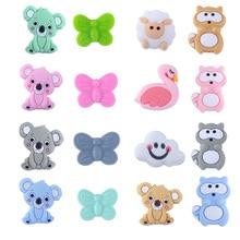 3PCS Food Grade Silicone Beads Mini Koala Sheep Baby Teething Toys Can DIY Teeth