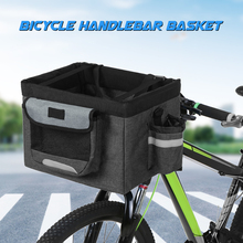 Foldable Bicycle Front Basket Removable Bike Pet Dog Cat Rabbit Carrier Camping Tote Bag