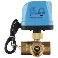 DN20 (G3 / 4 inch) 3 Way 220V Motorized with LED Light Valves 3 Way Motorized | Electrical Valve / Motorized Ball Valve