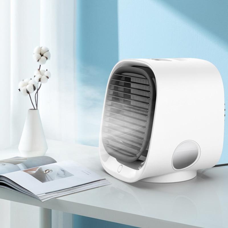 Details About  Portable Air Conditioner Fan USB Mini Cooling Bedroom Desktop Cooler Adjustable
