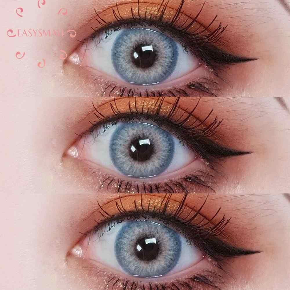 Easysmall unikalne fioletowe roczne kontakty soczewki dla oczu kot małe piękne uczeń cosplay stopień 2 sztuk/para krótkowzroczność recepta