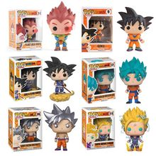 Funko POP Dos Desenhos Animados do Anime Dragon Ball Z Super Saiyan Goku Vegeta Figura Collectible Modelo Figuras de Ação Brinquedos Boneca de Vinil 2F64(China)