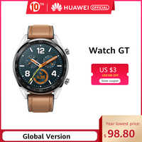 In Stock Global Version HUAWEI Watch GT Smart Watch 14 Days Battery Life 5ATM Waterproof 1.39'' AMOLED Screen Heart Rate Tracker