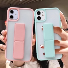 Phone-Case Bumper Wrist-Strap-Holder 11pro Max Clear-Cover Shockproof Soft-Silicone 8-Plus