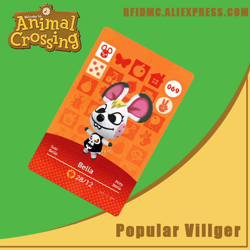 069 Bella Animal Crossing Card Amiibo For New Horizons