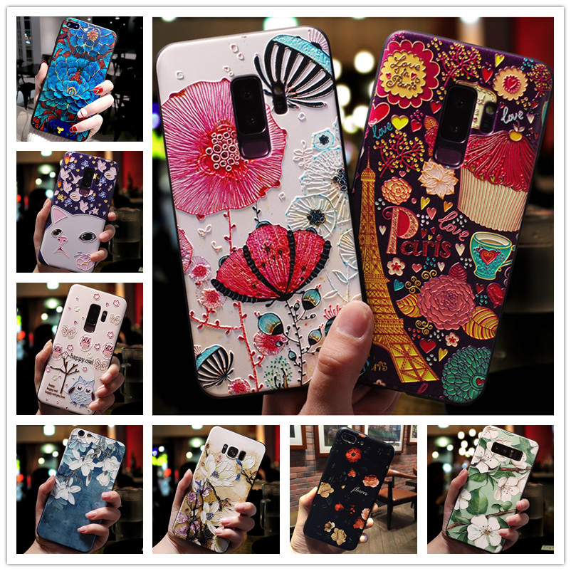 For <font><b>Samsung</b></font> J7 2017 Case EU <font><b>3D</b></font> Flower Emboss Silicone Phone Cases For <font><b>Samsung</b></font> Galaxy <font><b>J5</b></font> 2017 / J3 2017 Cover Soft j7 <font><b>j5</b></font> Pro image