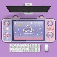 Alfombrilla de goma Natural para teclado de juegos, Oreja de Gato grueso de dibujos animados para ordenador portátil para jugador, antideslizante