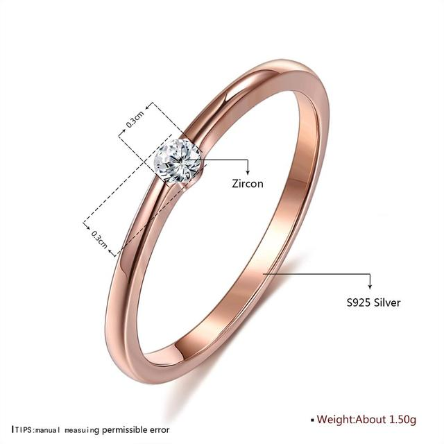 SILVERHOO 925 Sterling Silver Rings for Women Cute Zircon Round Geometric 925 Silver Wedding Fine Jewelry Minimalist Gift