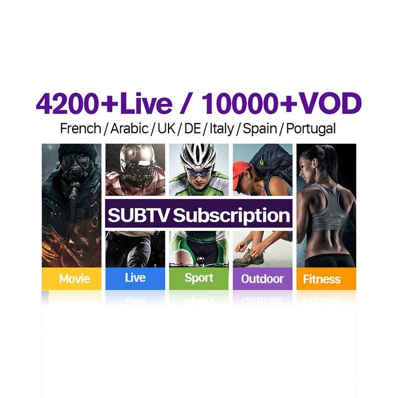 IPTV France Arabic 1 Year SUBTV Subscription French Italian Portugal Turkey Canada Albanian EX YU Arabic