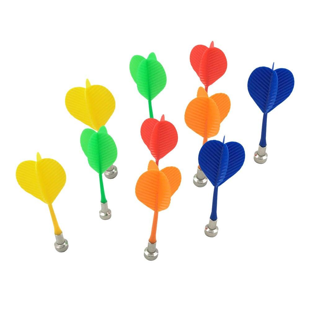 10pcs Plastic Wing-shaped Syringe Darts Nice Darts Wing Magnetic Darts Disk Magnet Darts Random Color