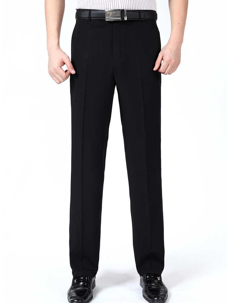 Terno masculino verão calças de vestido de seda plana formal calças de alta qualidade grande homem livre engomar 46 48 50 52 54 56 mais tamanho