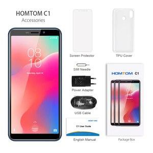 Image 5 - グローバルバージョン HOMTOM C1 16 グラム ROM 5.5 インチ携帯電話 13MP カメラ指紋 18:9 ディスプレイの Android 8.1 MT6580A 解除スマートフォン