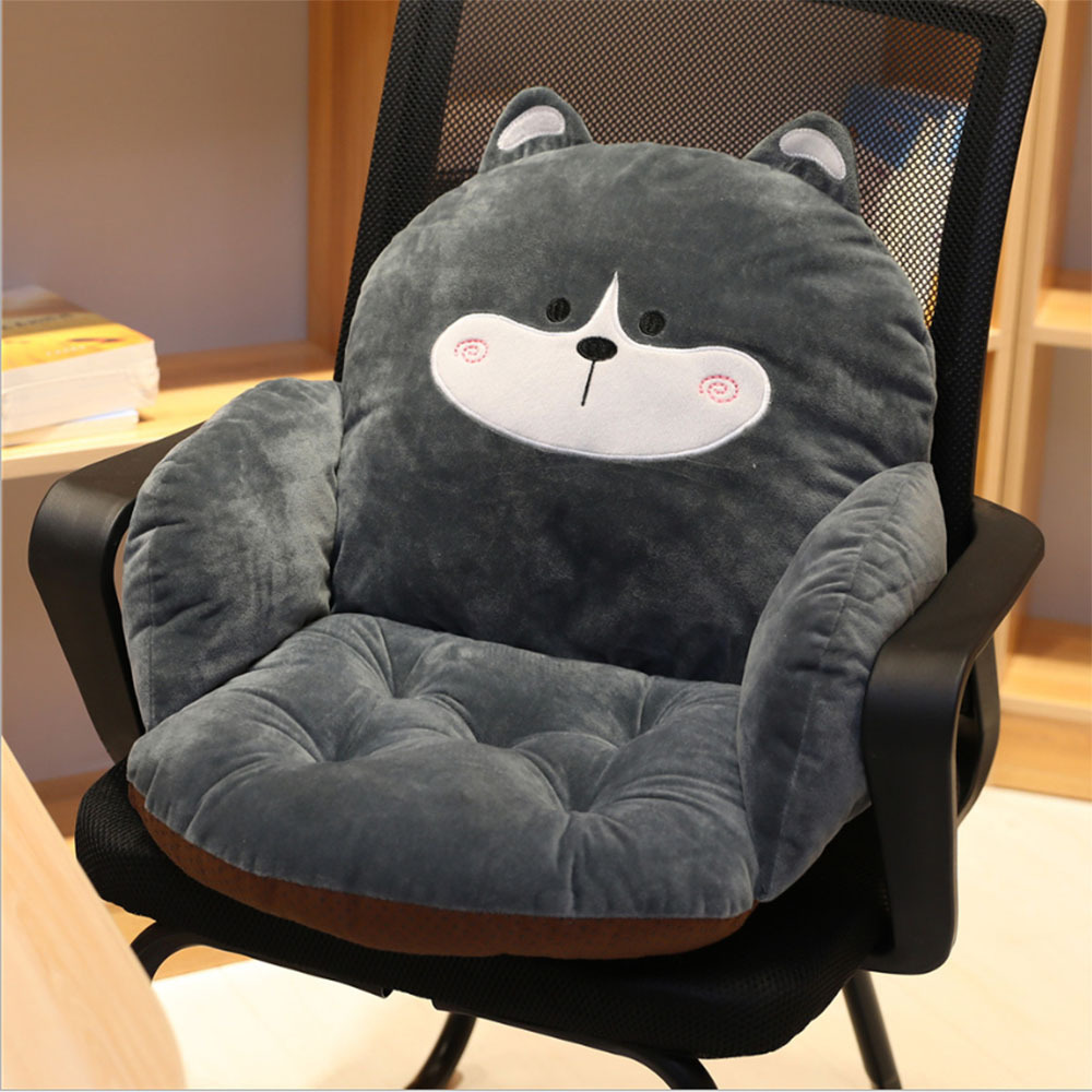 Lovely Cartoon Chair Cushion For Home Office Thicken Plush Seat Pad Sofa Home Decoration Pillow Car Seat