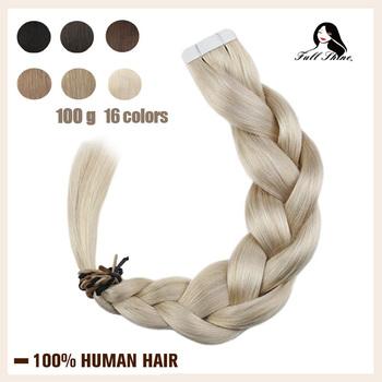 Pełna połysk taśmy w doczepy z ludzkich włosów Pure Color 100g 40 sztuk blond prosto klej samoprzylepny na maszyny do włosów Remy włosy tanie i dobre opinie Full Shine 2 5 g sztuka TP-Pure Color-100g Nie remy włosy Straight Darker Color Only Brazilian Hair 100 Gram 40 Pieces